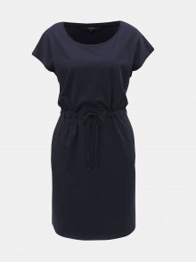 Tmavě modré basic šaty s kapsami VERO MODA April