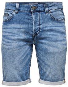 ONLY&SONS Pánské kraťasy Ply Sw Blue Shorts Pk 2019 Noos Blue Denim 31