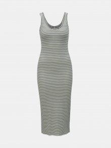 Černo-bílé pruhované pouzdrové basic šaty ONLY Cami