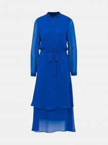 Modré košilové maxišaty Dorothy Perkins