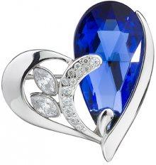 Preciosa Stříbrná brož Wild Heart Sapphire 6648 68