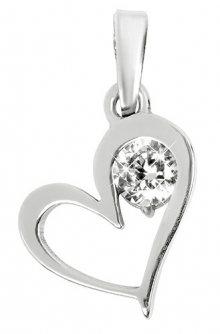 Brilio Silver Stříbrný přívěsek Srdce s krystalem 446 001 00363 04