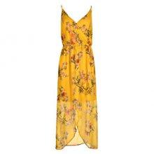 Vero Moda Dámské šaty Wonda Mandana Maxi Dress Exp Lemon Curry S