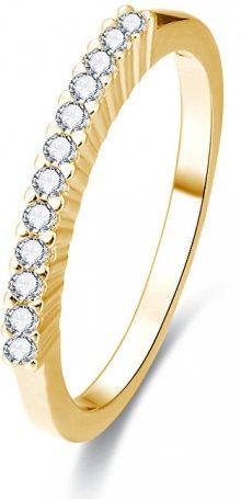 Beneto Pozlacený stříbrný prsten s krystaly AGG189 50 mm