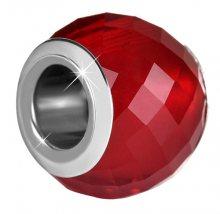 Infinity Love Vínový skleněný korálek HGPL-104-R