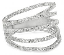 Brilio Silver Stříbrný prsten se zirkony 31G3098 50 mm