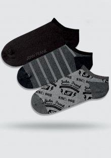 Pánské ponožky John Frank JF3SSCA19S32 3PACK UNI ocelovka