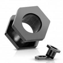 Tunel do ucha z titanu, anodizovaný, černý se šroubováním C15.11