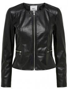ONLY Dámská bunda Mona Faux Leather Jacket Otw Black 34