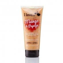 I Love Přírodní sprchový peeling s vůní manga a papáji (Mango & Papaya Exfoliating Shower Smoothie) 200 ml