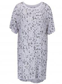 Bílá vzorovaná noční košile s nepravidelným hadím vzorem DKNY