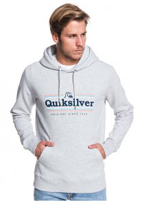 Quiksilver Pánská mikina Get Buzzy Screen Fleece Athletic Heather EQYFT04045-SGRH S