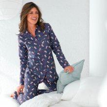Blancheporte Flanelové pyžamo s potiskem, \