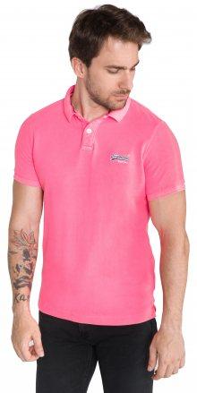 Polo triko SuperDry   Růžová   Pánské   S