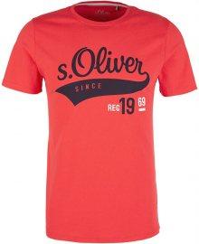 s.Oliver Pánské triko 13.906.32.4658.3214 Hyper Red M