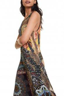 Desigual barevné šaty Vest Ilena - M