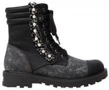 Desigual Dámské kotníkové boty Shoes Combat Pearl Negro 19WSTP07 2000 39