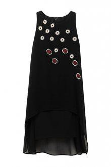 Desigual Dámské šaty Vest Cordoba Negro 19WWVW23 2000 38