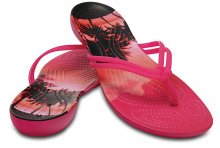 Crocs Dámské žabky Crocs Isabella Graphic Flip Candy Pink/Tropical 204196-6JS 37-38
