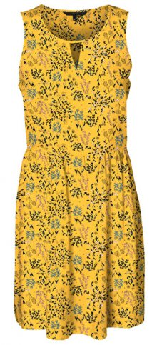 Vero Moda Dámské šaty Simply Easy Sl Short Dress Golden Nugget L