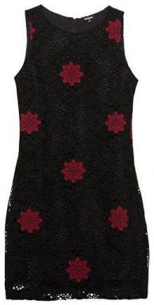 Desigual Dámské šaty Vest Lex Negro 19WWVW57 2000 38