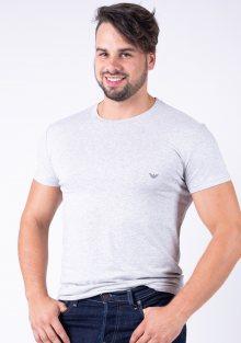 Pánské tričko Emporio Armani 111035 CC729 L Sv. šedá