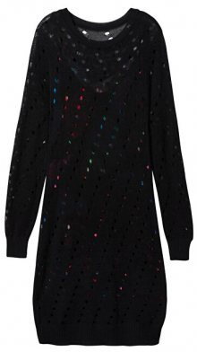 Desigual Dámské šaty Vest Namur Negro 19WWVF03 2000 S