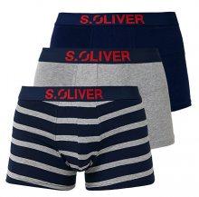 s.Oliver Sada pánských boxerek 26.899.97.4255.16B8 Navy Uni & Stripes XXL