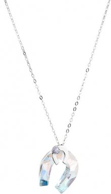 Preciosa Stříbrný náhrdelník s třpytivou podkovou Felicity 6657 56S