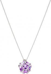 Preciosa Stříbrný náhrdelník s třpytivým přívěskem Fine 5063 56