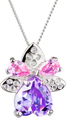 Preciosa Stříbrný náhrdelník s třpytivým přívěskem Gentle 5064 56