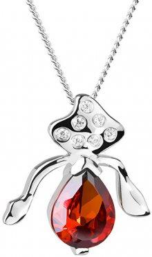 Preciosa Stříbrný náhrdelník s třpytivým přívěskem Seductive 5065 63