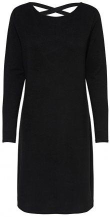 Jacqueline de Yong Dámské šaty Emily L/S Detail Dress Jrs Exp Black S