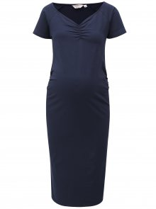 Tmavě modré těhotenské pouzdrové šaty Dorothy Perkins Maternity