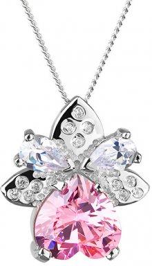 Preciosa Stříbrný náhrdelník s třpytivým přívěskem Gentle 5064 69