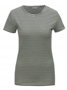 Světle zelené basic pruhované tričko Jacqueline de Yong Christine