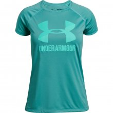 Under Armour Big Logo Tee Solid Ss zelená 170