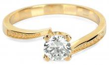 Brilio Zlatý zásnubní prsten s krystalem 226 001 01023 - 2,10 g 56 mm
