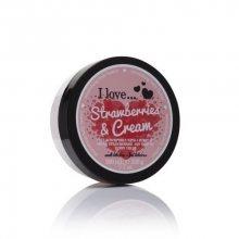 I Love Vyživující tělové máslo s vůní jahod s krémem (Strawberries & Cream Nourishing Body Butter) 200 ml