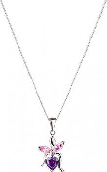 Preciosa Stříbrný náhrdelník s třpytivým přívěskem Silken 5066 64