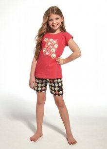 Cornette Kids Girl 787/64 Emoticon Dívčí pyžamo 122-128 růžová