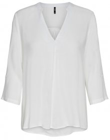 ONLY Dámská halenka ONLFIRST 4/5 V NECK SHIRT WVN Cloud Dancer 34