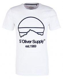 s.Oliver Pánské triko 13.908.32.7653.0100 White S