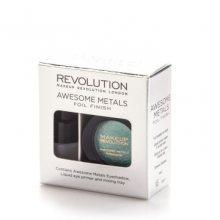 Revolution Sada na tvorbu metalických stínů Awesome Metal (Foil Finish) 1,5 g Emerald Goddess