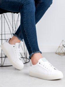 Originální  tenisky dámské bílé bez podpatku