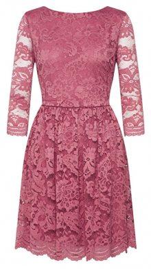 Vero Moda Dámské šaty VMALVIA 3/4 LACE SHORT DRESS Mesa Rose XS