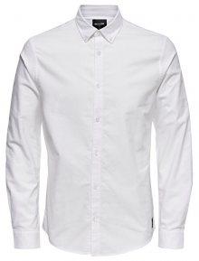 ONLY&SONS Pánská košile ONSOXFORD SOLID LS VD White S