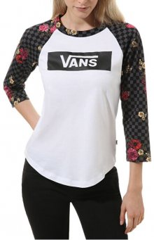 VANS Dámské triko Botanical Tangle White/Black VN0A47WRYB21 S