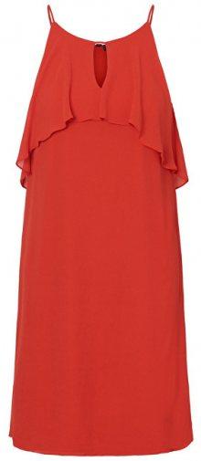 Vero Moda Dámské šaty Alba S/L Abk Dress Wvn Fiery Red XL