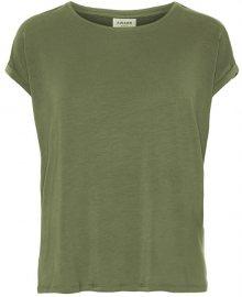 Vero Moda Dámské triko VMAVA PLAIN SS TOP GA NOOS Ivy Green S